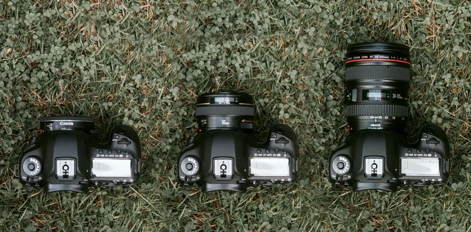 Das Canon 40mm 2.8 Pancake Objektiv im Größenvergleich