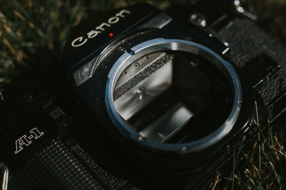 Kaufberatung: Canon A1 mit neuem Spiegeldämpfer aus Schaumstoff