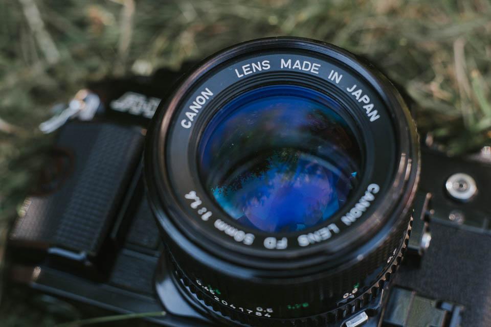 Canon A1 analog Kamera mit dem 50mm 1.4