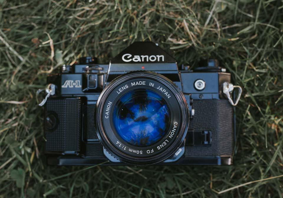 Analog Fotografieren mit der Canon A1 Spiegelreflexkamera