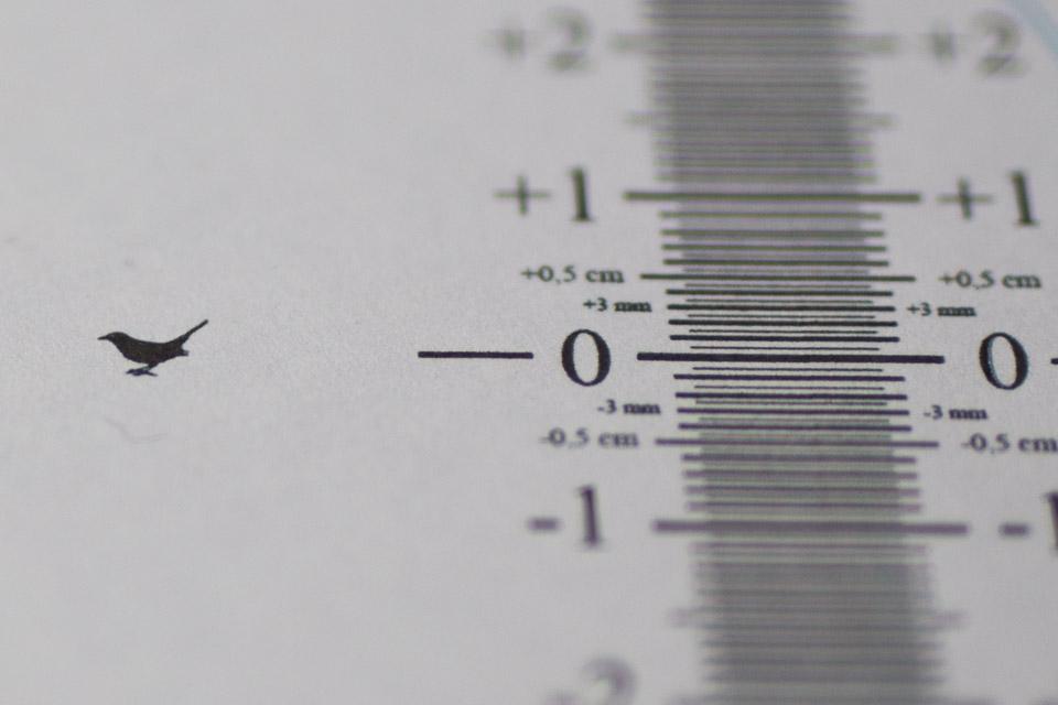 Autofokus kalibrieren auf dem Testchart
