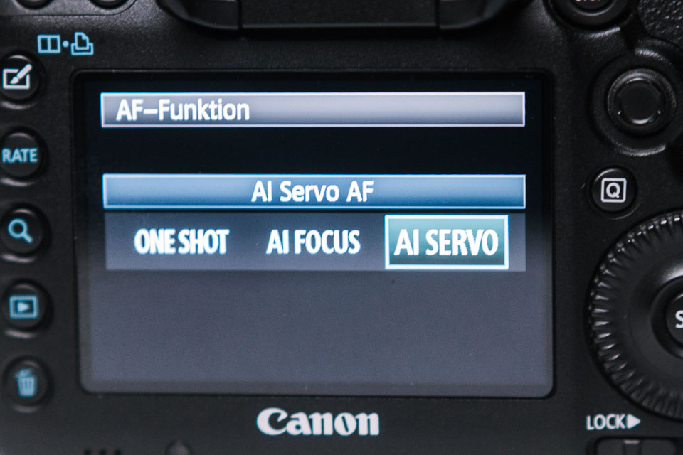 AF-Funktion auf AI Servo bei Canon
