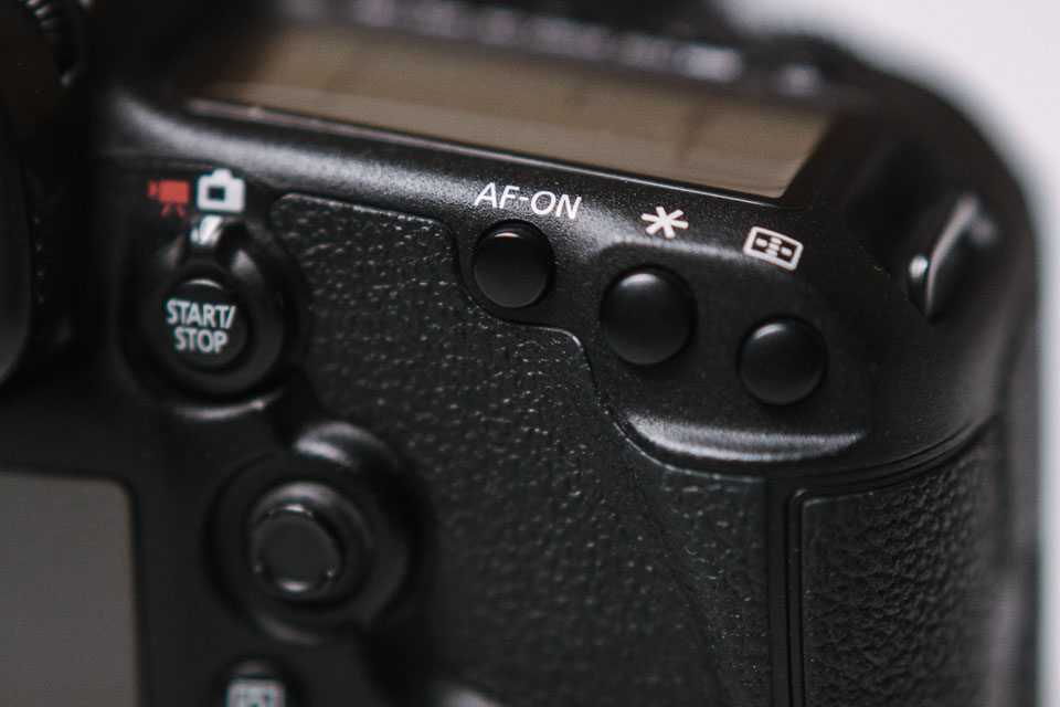 AF-On Knopf für Back Button Focus an der Canon 5D Mark III