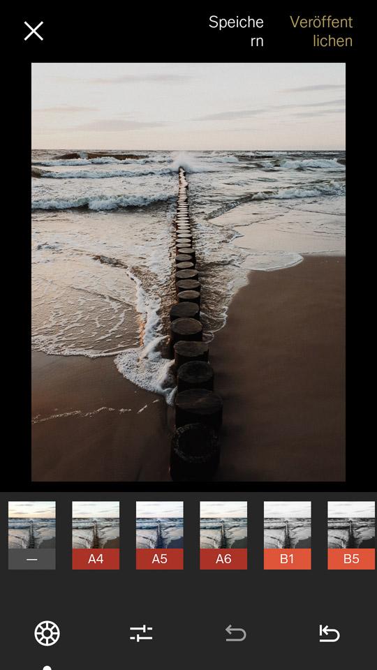 Mit der kostenlosen VSCO App Bilder bearbeiten