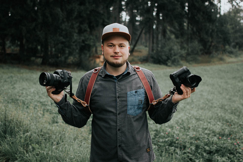 Ein hochwertiger Kamera Ledergurt