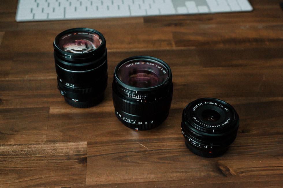 Fuji 18-55, 23mm 1.4 und 18mm F2.0