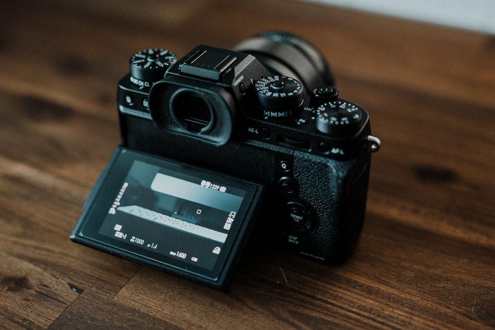 Fujifilm Kamera mit schwenkbarem Display