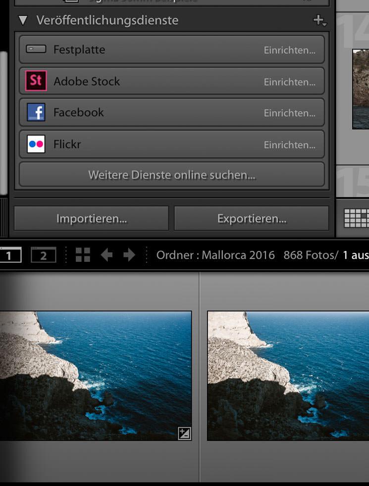 Fotos verwalten und importieren