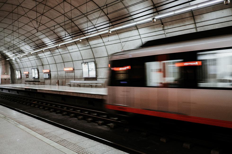 U-Bahn fahren in Bilbao