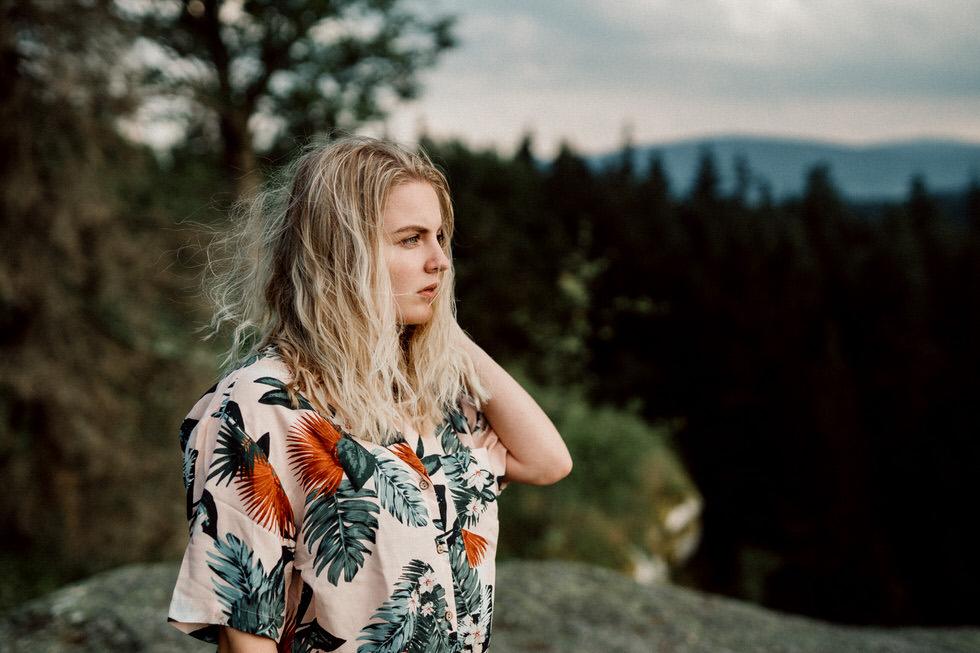 Outdoor Portrait auf einem Berg