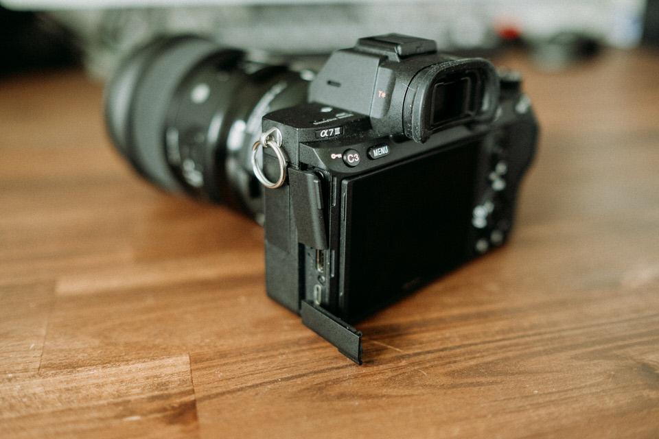 Sony A7 III Anschluss Abdeckungen aus Plastik