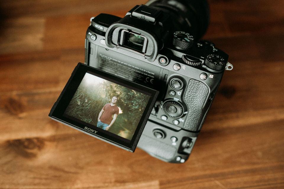 Schwenkdisplay der Sony Alpha Kamera