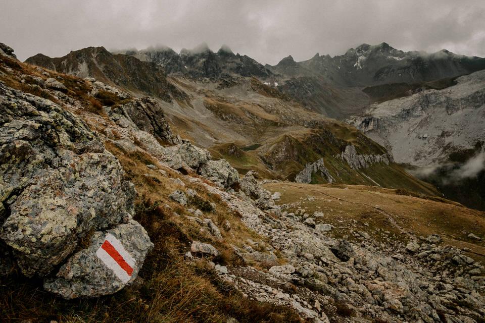 Wanderweg in Montafon Österreich: Der Schmugglerweg