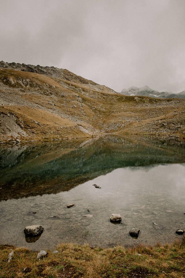 Der Gafier See in der Schweiz