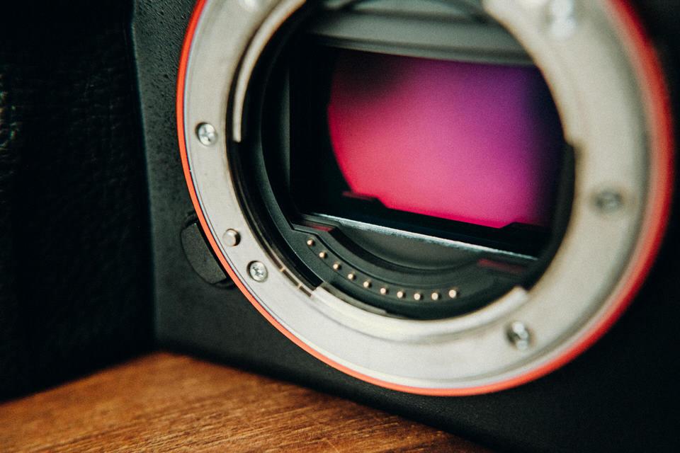 Sensor einer Vollformatkamera von Sony