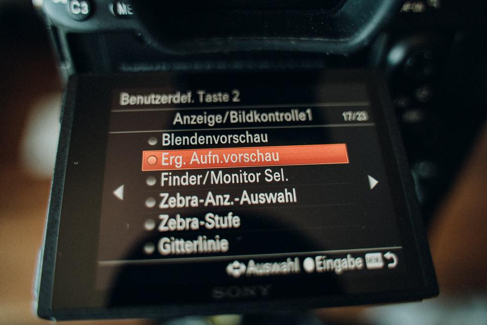 Sony A7III Einstellung