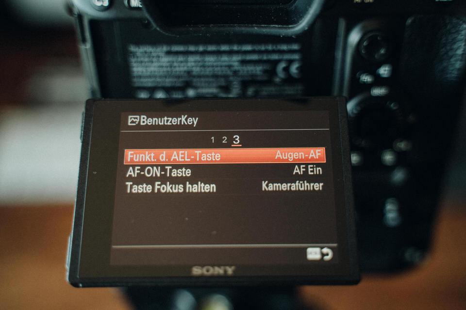 Sony Augen Autofokus Knopf belegen