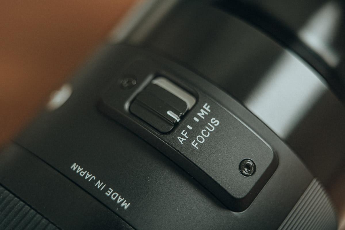Fokus Schalter am Sigma Objektiv