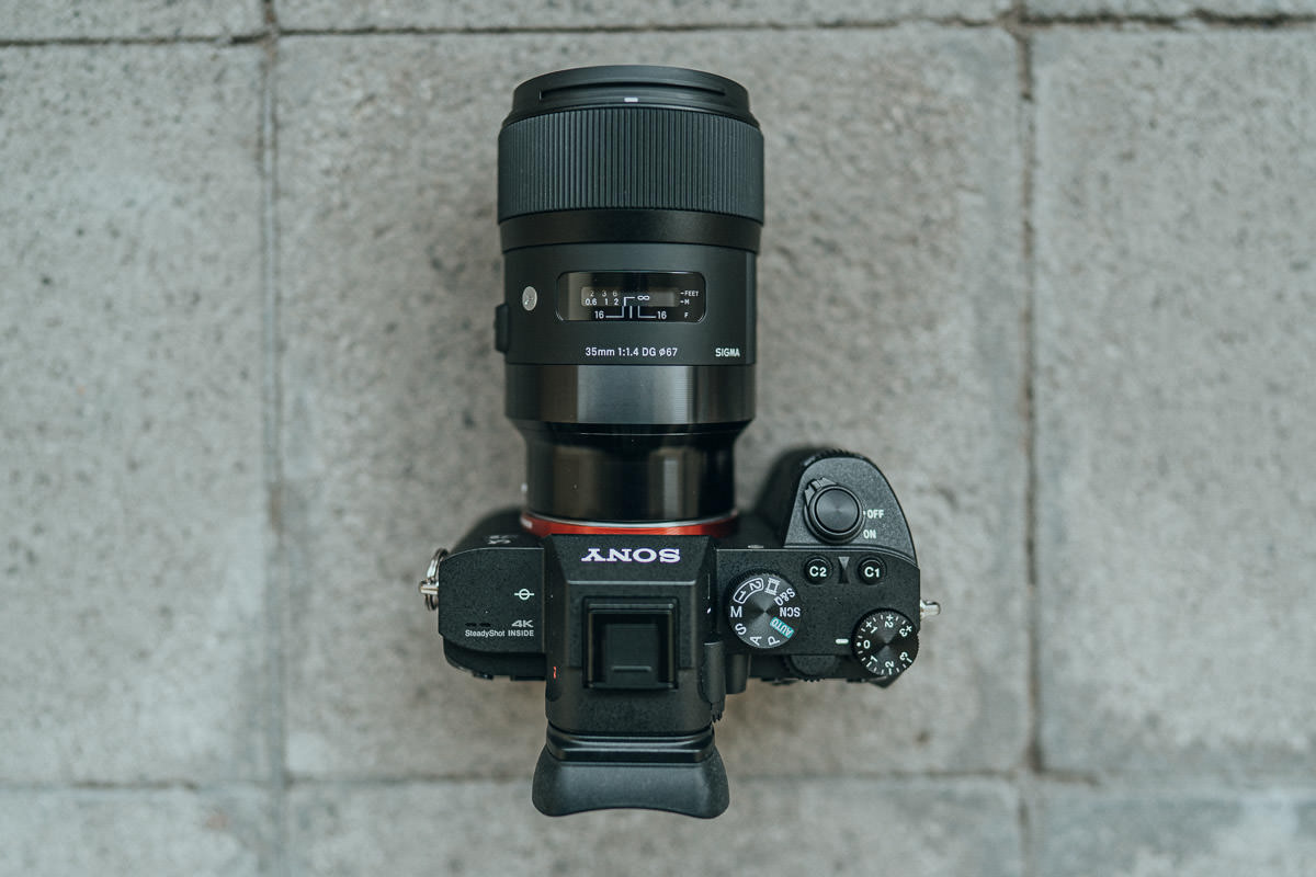 Sigma 35mm 1.4 E-Mount an der Sony A7III