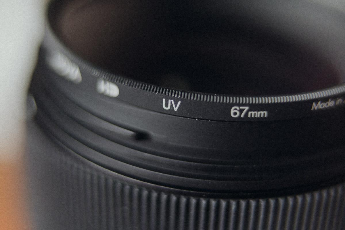 UV Schutzfilter für Objektive