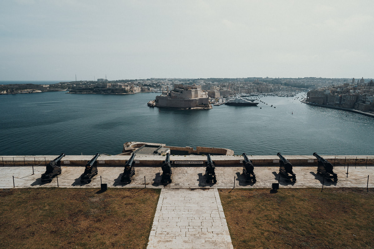 Saluting Battery in Valletta auf Malta