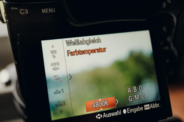 Manueller Weißabgleich in Kamera Sony A7 III