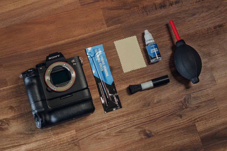 Ausrüstung zum Kamera reinigen