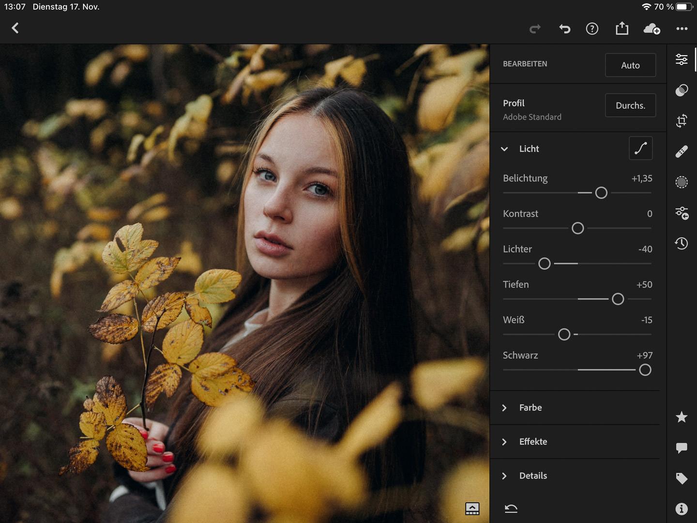 Bildbearbeitung mit Lightroom Mobile für iOS und Android